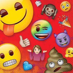 Rainbow Emoji Serviettes de Table, 16un