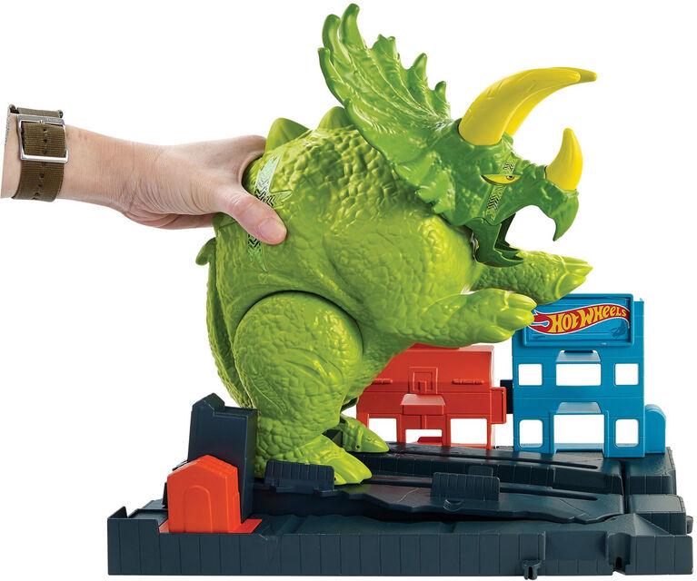 Hot Wheels City Smashin' Triceratops Playset - English Edition