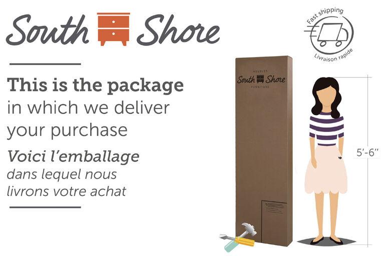 Meubles South Shore, 6-Drawer Double Dresser - Blueberry