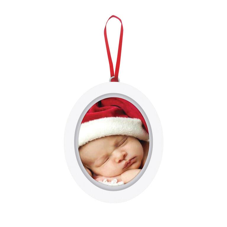 Cadre photo ornemental Babyprints – Oval en bois