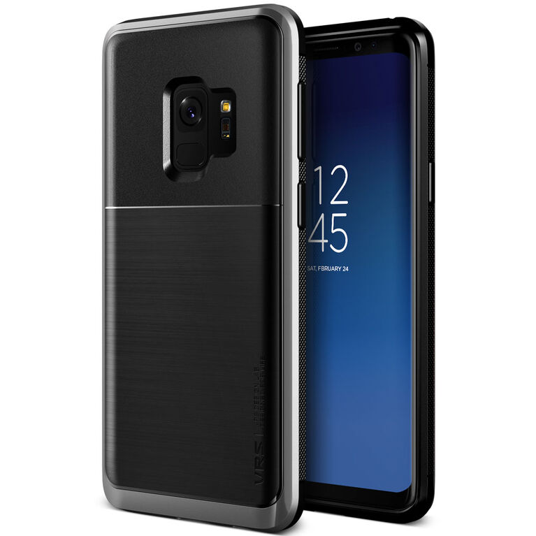 Vrs Design High Pro Shield Slim Étui pour Samsung Galaxy S9+ Argent (VRSGS9PHPSSS)
