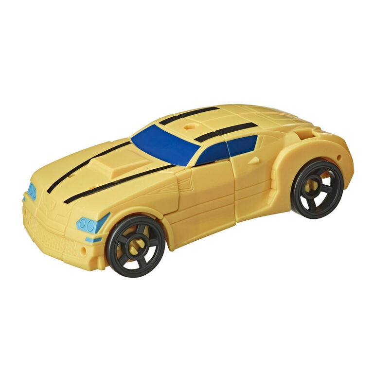 Transformers Bumblebee Cyberverse Adventures Battle Call Trooper Class Bumblebee, Voice Activated Energon Power Lights