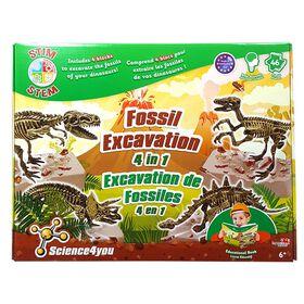 Science4you - <br>Excavation de fossiles 4 en 1.
