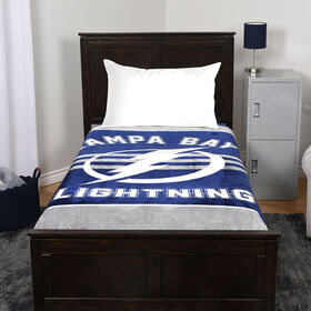 NHL Luxury Velour Blanket - Tampa Bay Lightning