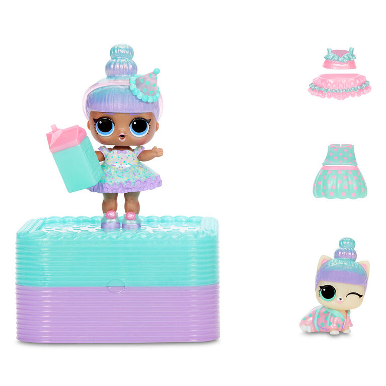 L.O.L. Surprise Deluxe Present Surprise with Limited Edition Sprinkles Doll and Pet