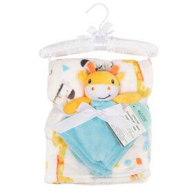 Baby's First By Nemcor Ensemble de 2 pièces- Couverture de girafe avec zoo