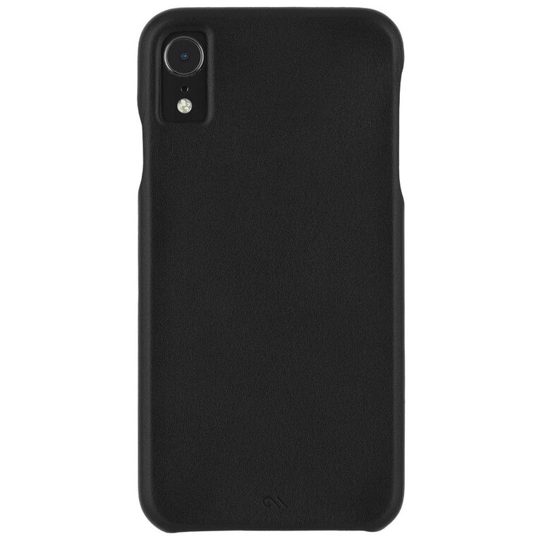 Case-Mate Barely There Leather Case iPhone XR Black