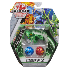 Starter Pack Bakugan, Coffret de 3, Fenneca Ultra, Figurines articulées Geogan Rising à collectionner