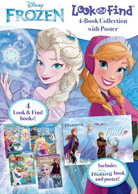 Look and Find - Frozen 4 Book Slip Case Plus Poster - English Edition