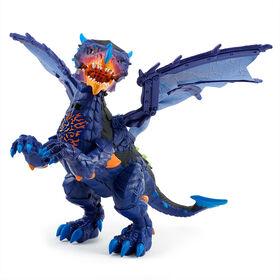 Untamed Legends Dragon - Vulcan (Dark Blue) - Interactive Toy <br>