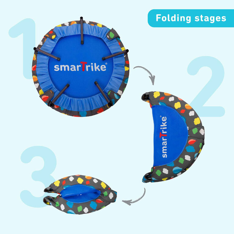 smarTrike Indoor Toddler Trampoline with Handle, Ball Pit - 100 Balls Included