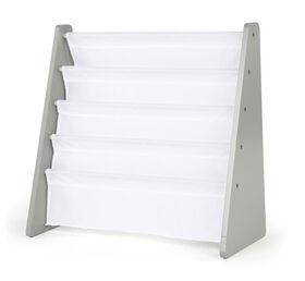 Inspire Bookrack (grey rack, white pockets)