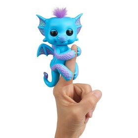 Fingerlings - Glitter Dragon - Tara (Blue with Purple) - Interactive Baby Collectible Pet