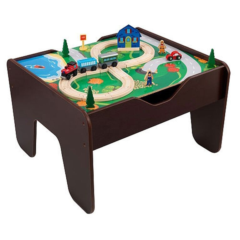 2 in 1 Activity Table with Board - Espresso