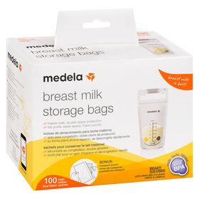 Sacs de conservation pour lait maternel de Medela - boîte de 100.