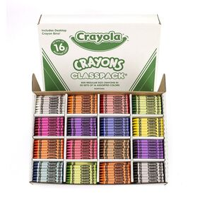 Crayola Class Pack Crayons, 16 Colours,800 Ct
