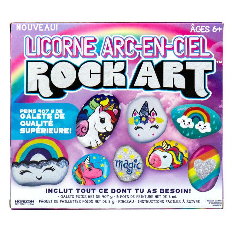 Rainbow Unicorn Rock Art