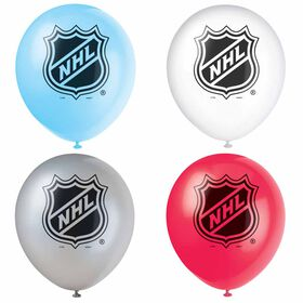 """NHL Fans 12"""" Latex Balloons, 8 pieces"""