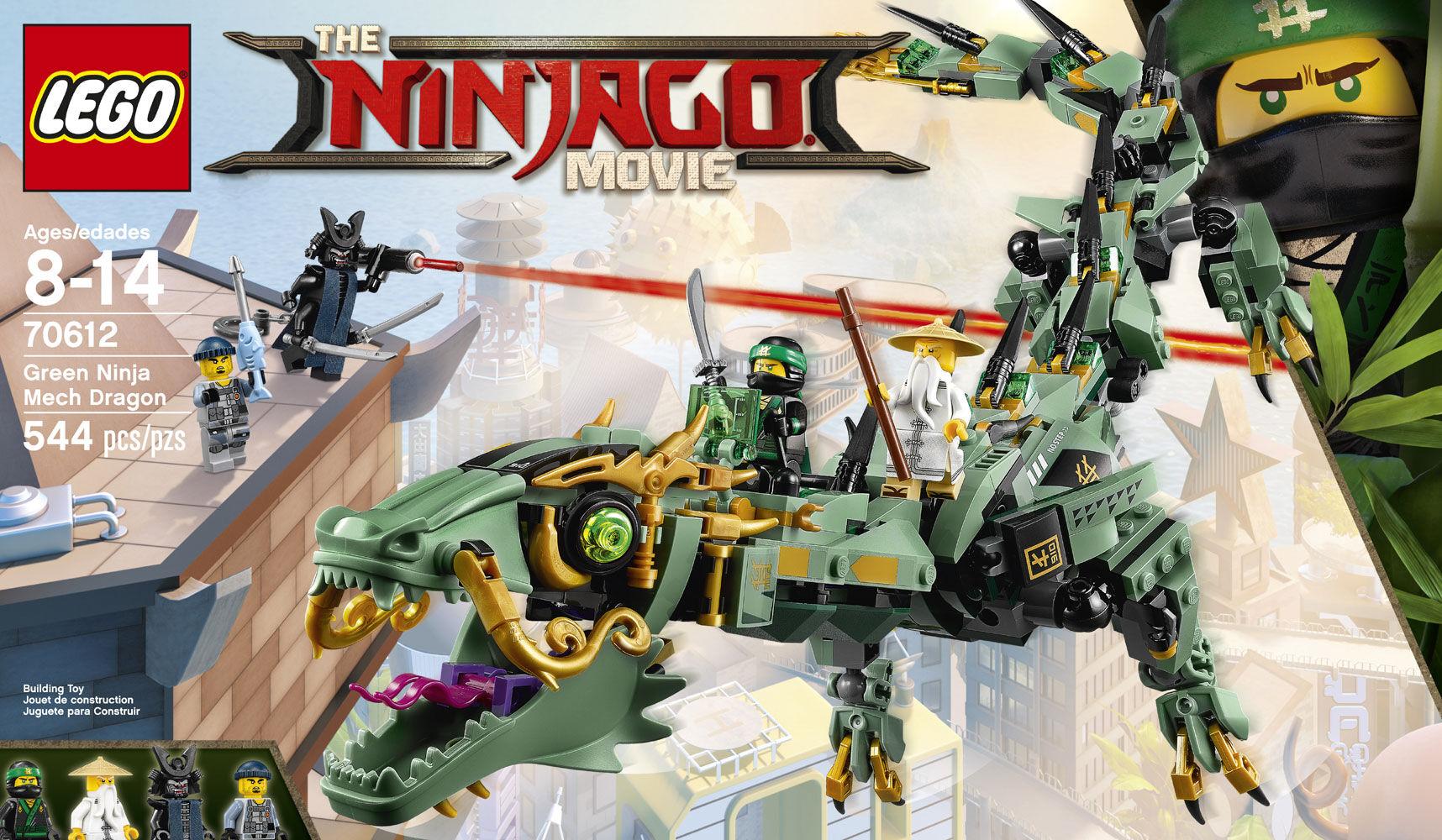 70612 Damaged Box LEGO Ninjago Movie Green Ninja Mech Dragon
