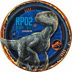 "Jurassic World 7"" Plates 8 pieces"