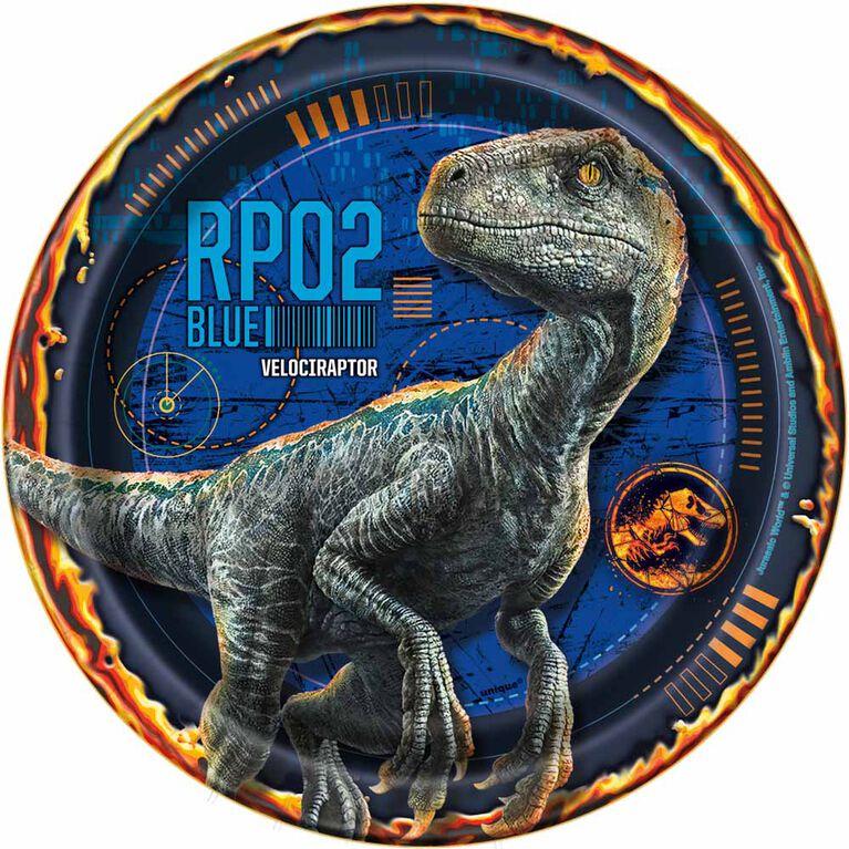 Jurassic World Assiettes 7po, 8un