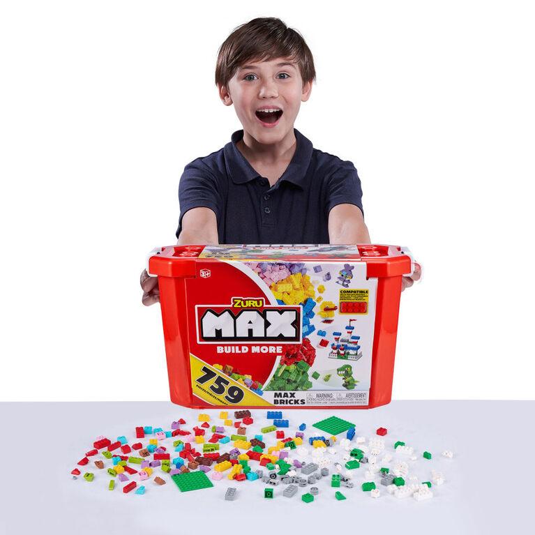 Jeu de briques de construction MAX Build More ( 759 briques) - Compatible avec les principales marques de briques