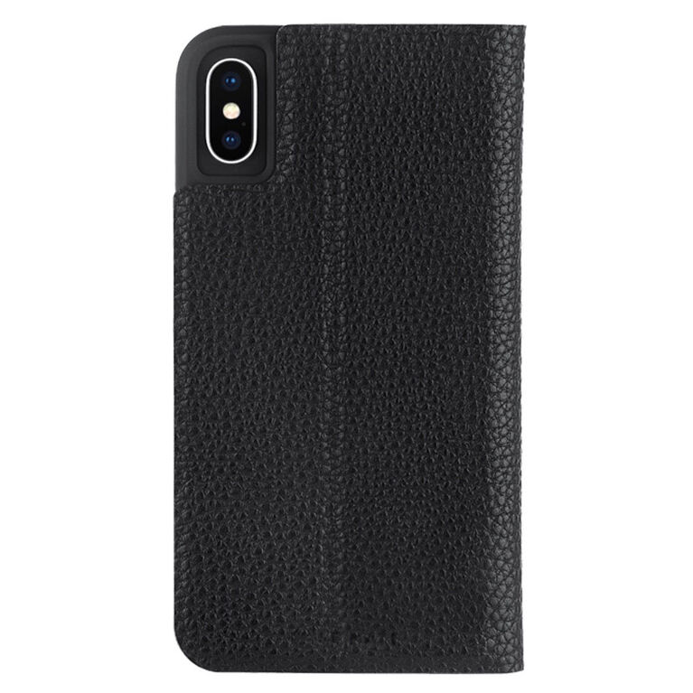 Étui Folio Barely There de Case-Mate pour iPhone Xs/X, noir