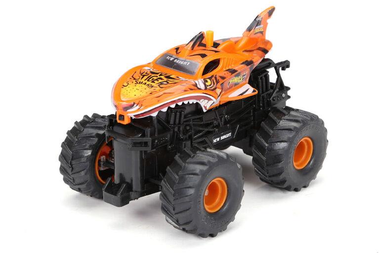 New Bright R/C-Hot Wheels-Tiger Shark/Orange/1:43