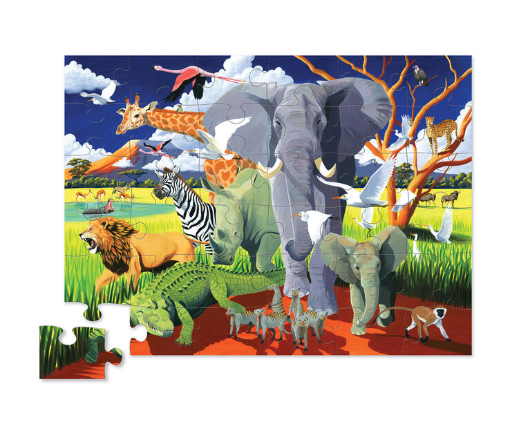 Crocodile Creek Wild Safari Floor Puzzle
