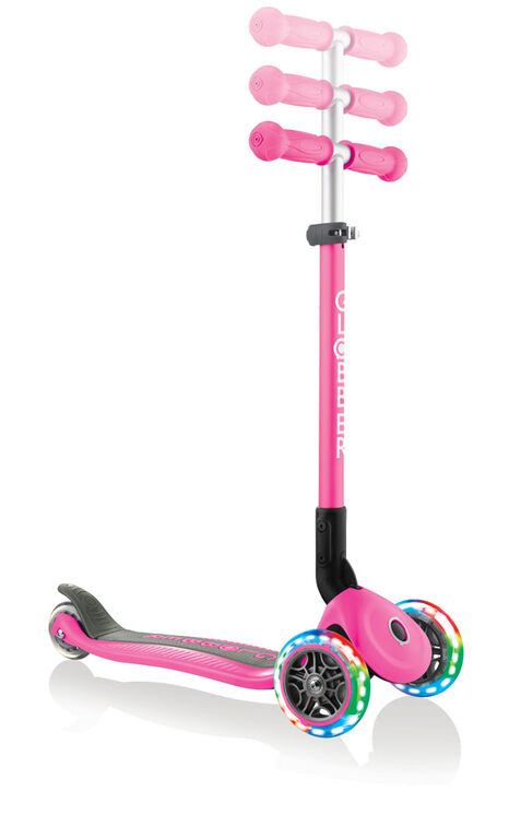Primo Foldable Light-Up Scooter - Deep Pink