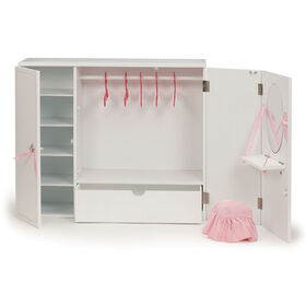 Our Generation, Wooden Wardrobe, Fashion Closet for 18-inch Dolls