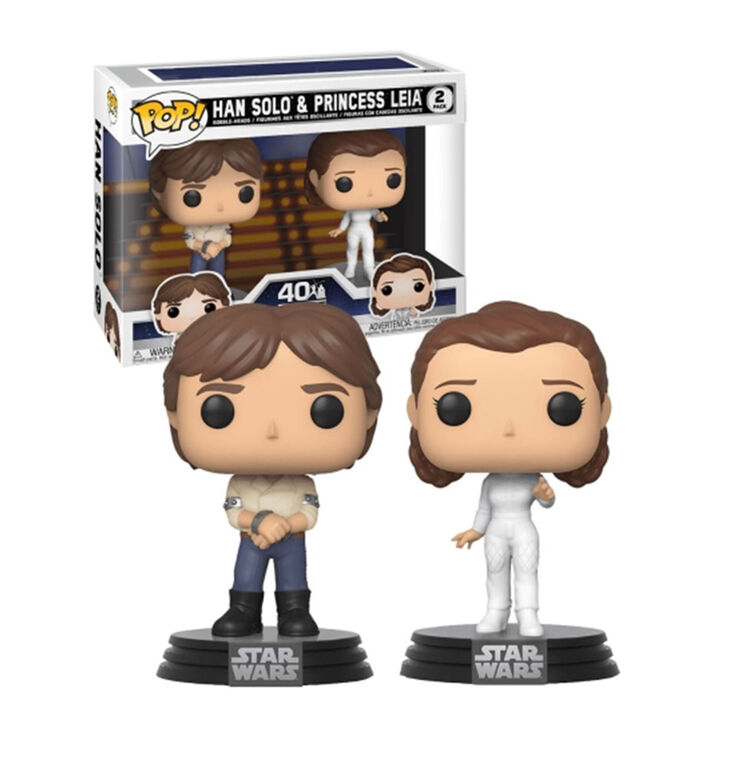 Funko POP! 2-Pack Star Wars: The Empire Strikes Back - Hans Solo and Princess Leia - English Edition