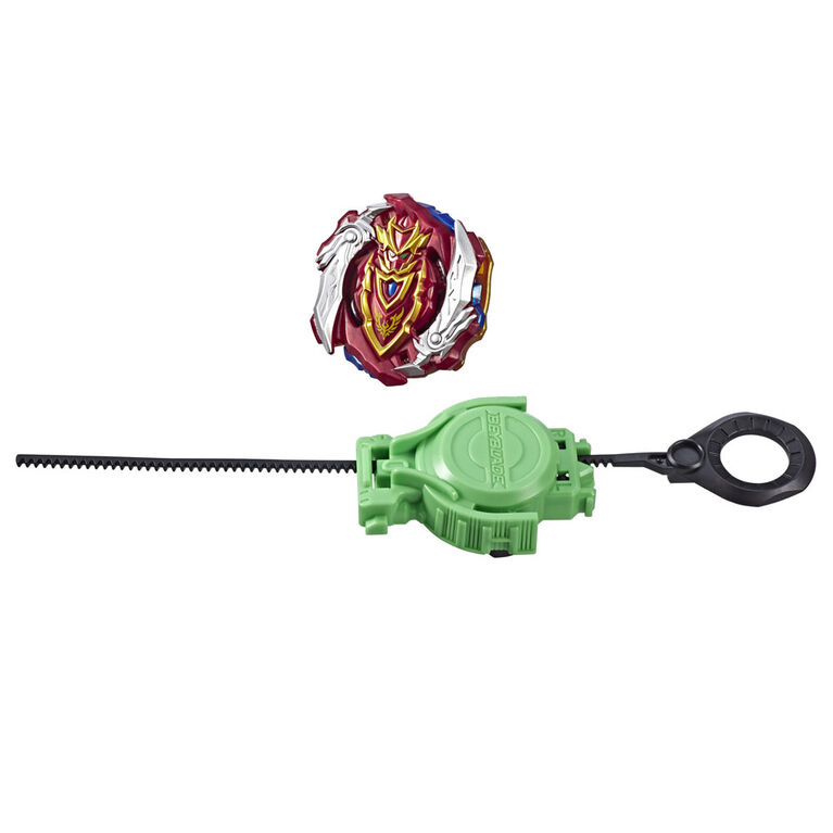 Beyblade Burst Turbo Slingshock Turbo Achilles A4 Starter Pack -- Battling Top and Right/Left-Spin Launcher