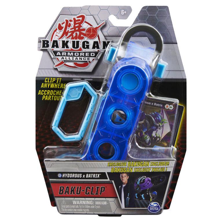 Bakugan, Accessoire de rangement Baku-Clip avec Bakugan Fusion Hydorous x Batrix - Notre exclusivité