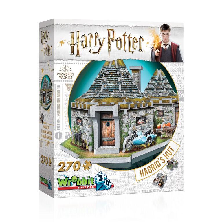 Harry Potter - WREBBIT 3D Jigsaw Puzzle - Hagrid's Hut  - 270 Pieces