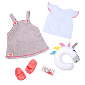 Our Generation, Unicorn Express, Unicorn Travel Oufit for 18-inch Dolls