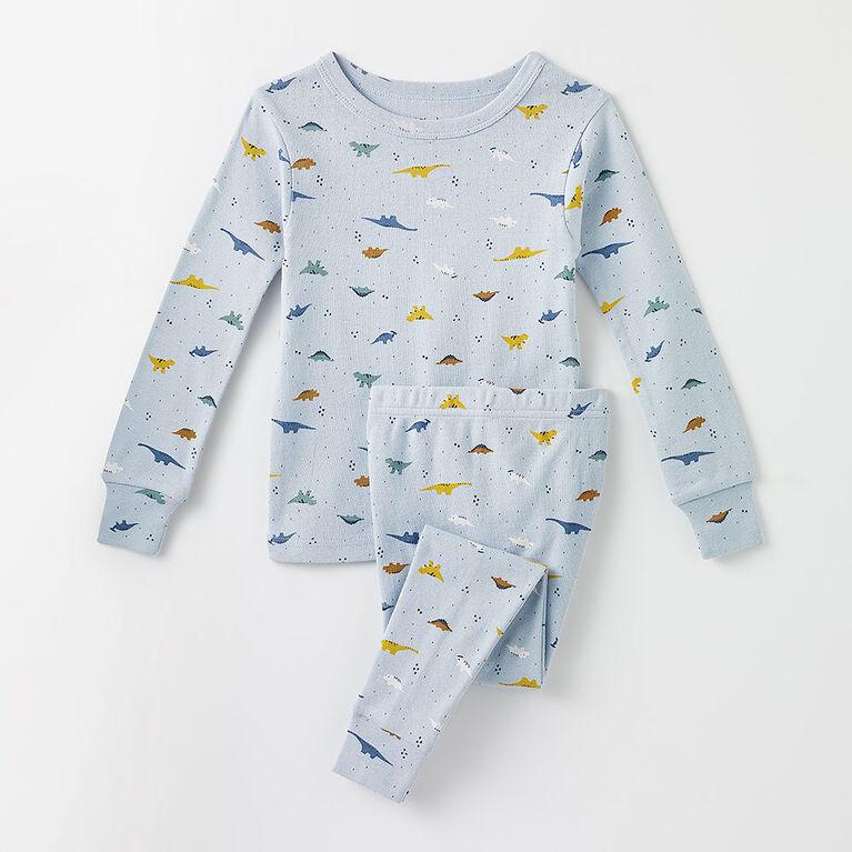 4 ans pyjama deux pièces en coton biologique - bleu pâle