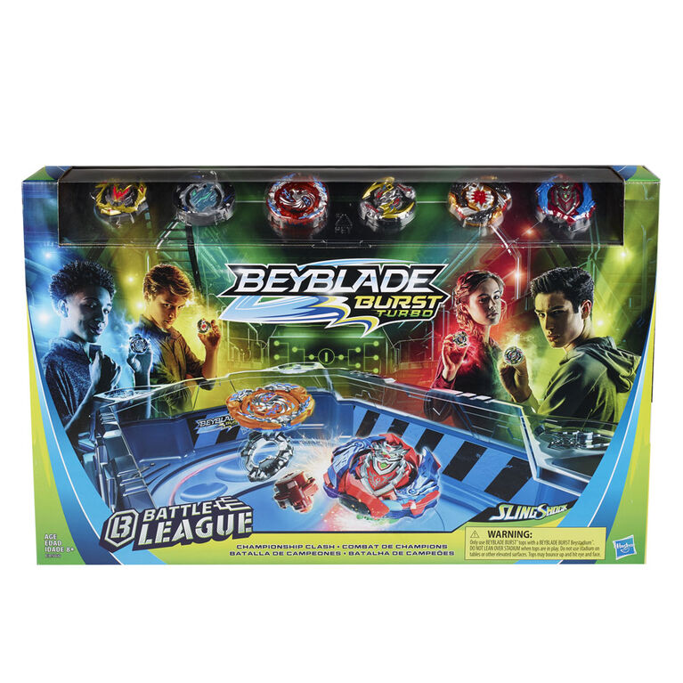 Beyblade Burst Turbo Championship Clash Battle League Set - R Exclusive
