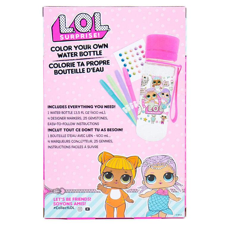 LOL Surprise Glitter Water Bottle - English Edition