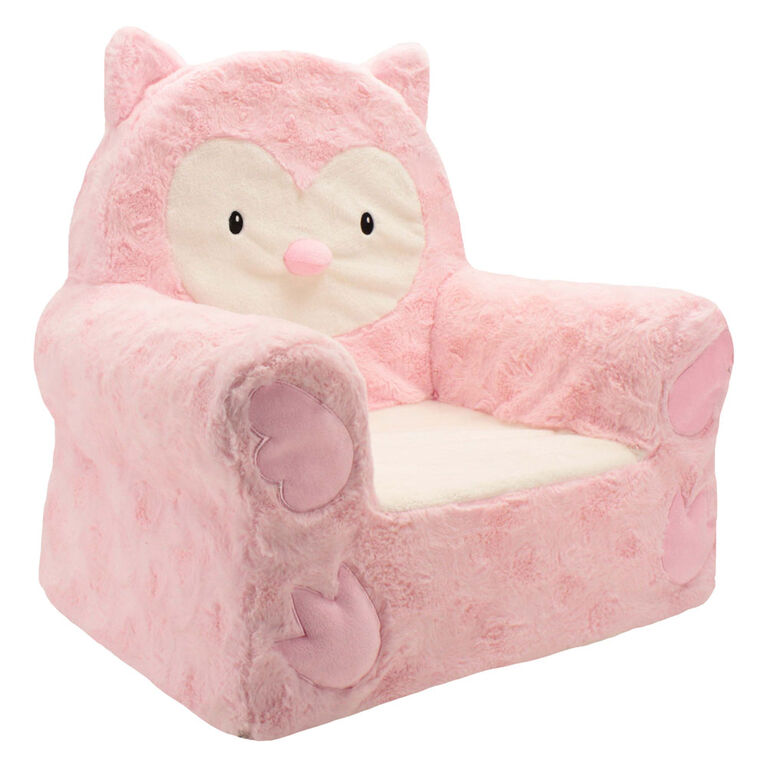 Sweet Seats Soft Chair - Pink Owl