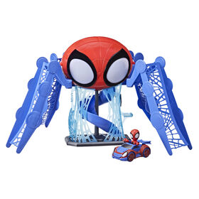 Marvel Spidey and His Amazing Friends Web-Quarters Playset With Lights and Sounds - English Edition