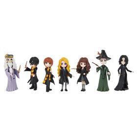 Wizarding World, Magical Minis, Collector Set avec 7 figurines Harry Potter de 7,6 cm - Notre exclusivité