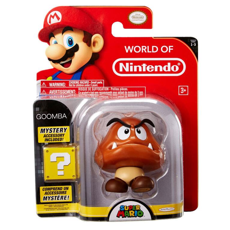 "World of Nintendo 4"" Figures - Goomba w/ Coin"