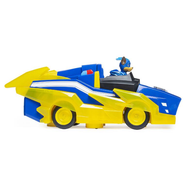 PAW Patrol, Mighty Pups Prêt à foncer, Véhicule de luxe Transforming Vehicle de Chase avec effets sonores et lumineux