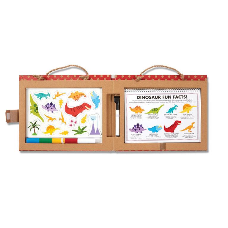 Melissa & Doug Natural Play: Play, Draw, Create Reusable Drawing & Magnet Kit - Dinosaurs