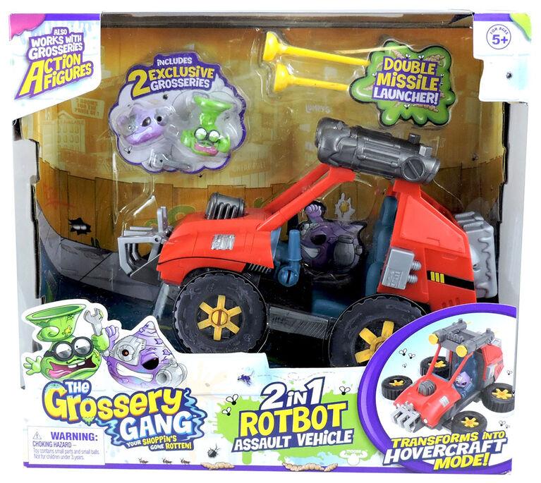 Les Grosseries Time Wars Véhicule d'assaut Rot Bot 2 en 1.