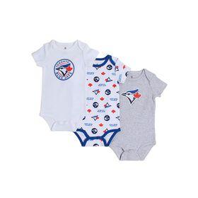 Snugabye Toronto Blue Jays 3 Piece Infant Body Suit set  9-12 Months