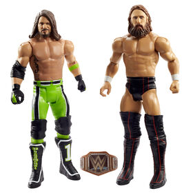 WWE - Coffret Combat 2 Figurines Daniel Bryan Vs Aj Styles
