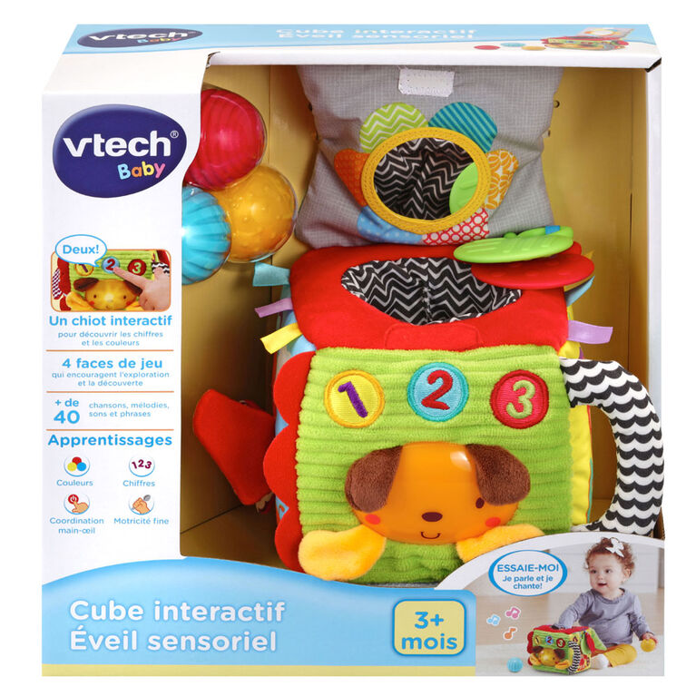 VTech Cube interactif Éveil sensoriel - Édition française