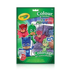 Colouring & Sticker Book, PJ Masks